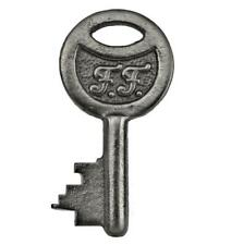 """Vintage Key with Initials F.F. Round Bow 1⅝"""" Small - ref.k569"""