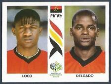PANINI FIFA WORLD CUP-GERMANY 2006- #305-ANGOLA-LOCO / DELGADO