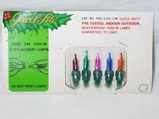 Vintage Christmas Jewel-Lite Replacement Light Bulbs Multi Color IOP 3.5v T39