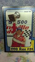 "Race Card, 1990 Geoff Bodine,  #24, Martinsville, Card#194 of 240, 3.5"" x 2.5"""