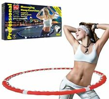 ABS WORKOUT PROFESSIONAL WEIGHTED MAGNETIC HULA HOOP  FITNESS EXERCISE HEART