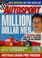 Autosport 23 Jul 1998 - Schuey Ferrari, BAR factory launch, Burns & McRae, FIAGT