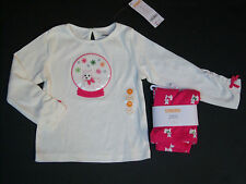 NWT Gymboree Cheery All the Way 2T Pink Scottie Dog Leggings and Snowglobe Top