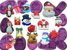 Navidad Navidad Para Decoración de Pasteles de Molde Molde Cupcake Topper Glaseado Fimo Decoraciones