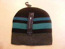 RAGAZZI BLU NERO + grigio a righe Berretto hat. Ages 6 - 9