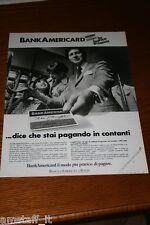 AL10=1972=BANK AMERICARD CARTA DI CREDITO=PUBBLICITA'=ADVERTISING=WERBUNG=