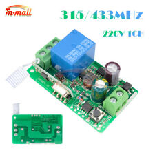 315/433MHZ 220V 1CH Wireless RF Remote Receiver Transmitter Relay Control Switch