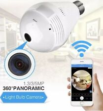 Foco Camara 360 Con Espia Oculta Vigilancia.Video WiFi Camaras Secretas Wireless