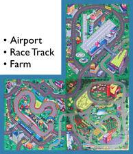 3 Floor Play Mats Game for Kids Road Railway Airport Theme Mats Racing Farm FUN