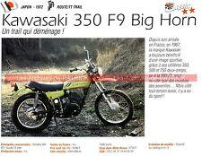 KAWASAKI 350 F9 Big Horn 1972 Fiche Moto 000199