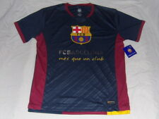 FC Barcelona Polyester Crest T-Shirt Men Large FCB Messi Mes Que Un Club La Liga