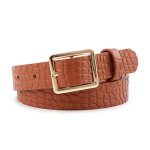 Crocodile Square Buckle Belt Casual Wild Waist Belt Adjustable Waistband Casual