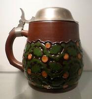 Bierkrug 0,5 Liter, Terra Sigillata, Dümler & Breiden Modellnr. 1633, um 1910