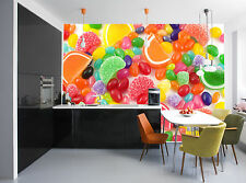 Colorful Candy Wall Mural Photo Wallpaper GIANT DECOR Paper Poster Free Paste