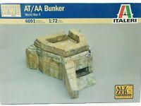 Italeri WWII AT AA Bunker World War II 6091 Grey Plastic 1:72 Scale Model Kit
