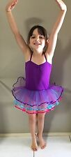 Girls Tutu, Ballet, Fairy Dress, Costume Rainbow Tulle Purple Approx 3-5yrs