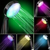 Handheld 7 Color LED Romantic Light Water Bath Home Bathroom Shower