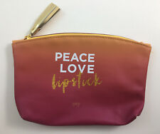 Ipsy August 2017 Good Vibes Only Peace Love Lipstick Glam Bag Makeup Bag Only