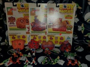 Vintage ToyMax Body Wars lot of 4 Heart Brain Lungs Digo Destroyer 100% Complete