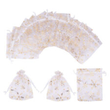 100pcs  Gift Bags, 4.7 x 3.9 inch Candy Mesh Drawstring Bags Jewelry Toy Pouches