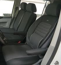 Coprisedili Misura rivestimenti Coprisedile Per VW t5 CARAVELLE conducente & doppio banca