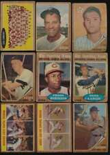 1962 Topps Baseball G avg lot of 259 different cards vy low grade BV $2410 56941