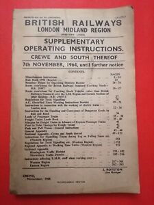 British Railways - BR31041/2 - Supplementary Operating Instructions - 1964 - LMR