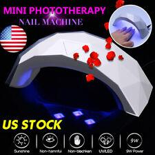 US 9W Mini LED UV Nail Dryer Light Lamp Gel Polish Light Spa Professional
