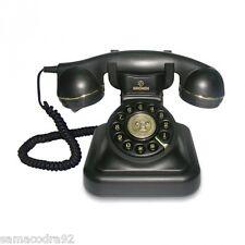 Telefono fijo retro Vintage negro