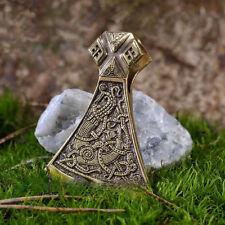 Viking Collana con mammen AXE Bronzo Ciondolo Norreno Slavi Cotone Cord