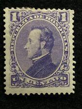 1878  1 CENT SCOTTS# 30 PRESIDENT FRANCISCO MORAZAN HONDURAS {{{UNUSED}}} STAMP!