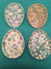 Set Of 4 Ceramic Pottery Barn Easter /Spring Floral Egg Plates