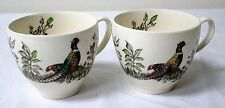 2 Pheasant Bird Coffee Espresso Cups Mugs Made in England
