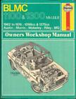 AUSTIN 1100,1300,MK1,2,3,1300 GT,MG,MORRIS,BLMC,WOLSELEY HAYNES MANUAL 1962-1974