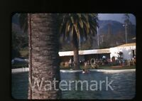1940s red border Kodachrome Photo slide  Lake Arrowhead  Hotel CA #2