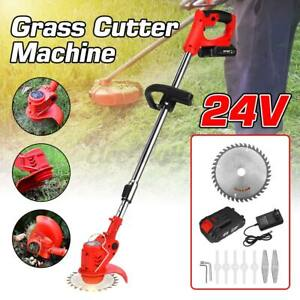 24V Electric Weed Eater Lawn Wacker Edger Cordless Grass String Trimmer Cutter