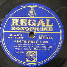 78rpm MAISIE RINGHAM SALVATION ARMY o for the wings of a dove / a song of faith