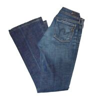 """Seven 7 for All Mankind Women's Bootcut Stretch Blue Jeans size 27 Inseam 34"""""""