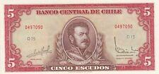 CHILI: 5 ESCUDOS -1964- état SPL/FDC,non circulé,UNC