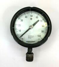 "Ashcroft  100#  Pressure Gauge 4 1/2"" 0-100 PSI 1/2"" Male NPT"
