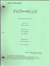 """TWO AND A HALF MEN show script """"Sarah Like Puny Alan"""""""