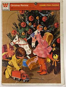 Vintage - 1977 Whitman - Christmas Morning Frame Tray Puzzle
