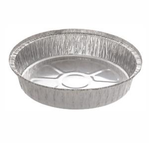 "20 x ROUND Aluminium Foil Dishes 9"" Steak Pie Quinche Disposable Baking Trays"