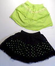 Toddler Girls Green & Black Tutu & Cotton Skirt Age 2 years