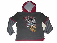 C & A tolles Kapuzen Langarm Shirt Gr. 116 grau mit Mickey Maus Motiv !!