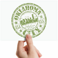 "Oklahoma City USA Green Sign Small Photograph 6"" x 4"" Art Print Photo Gift #5833"