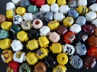 LEGO 10 mal KÖPFE Kopf von Figuren Männchen Figurenteile Konvolut