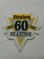"VINTAGE 1933-1992 PITTSBURGH STEELERS 60 SEASONS ANNIVERSARY PATCH 3"" X 3"""