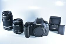Canon EOS 60D 18.0MP Digital SLR Camera With 18-55mm IS & 55-250mm IS Lenses