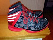 ADIDAS black red white basketball Shoes youth boys size 6